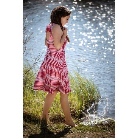 Dámské šaty ALTISPORT ILEMA LSKR268 ČERVENÁ