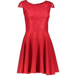 Dámské šaty NUMOCO A157-8 ČERVENÁ
