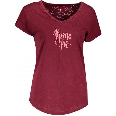 Dámské triko ALPINE PRO HARISA 3 LTSR575 VÍNOVÁ