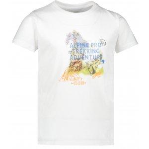 Dětské triko ALPINE PRO AXISO 3 KTSR238 BÍLÁ