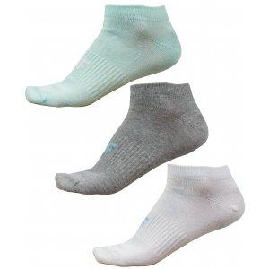 Dámské ponožky 4F NOSD4-SOD302 MINT/WHITE/COLD LIGHT GREY MELANGE