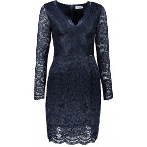 Dámské krajkové šaty NUMOCO A170-7 MODRÁ