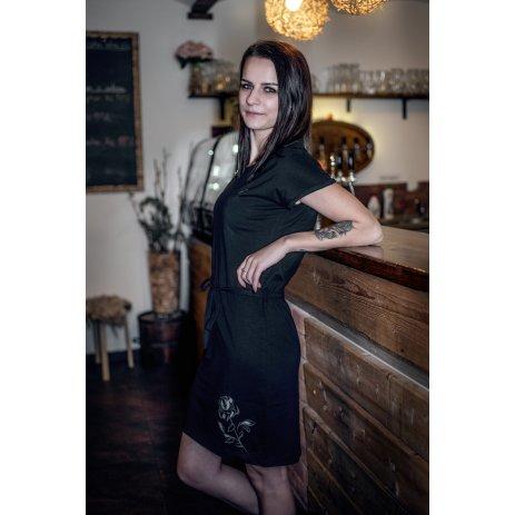 Dámské šaty ALTISPORT ALWILDA LSKR251 ČERNÁ