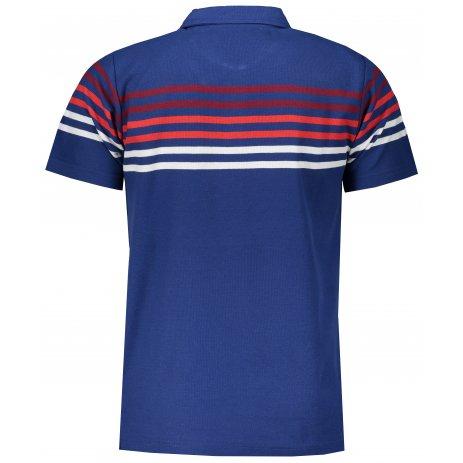Pánské triko s límečkem ALPINE PRO BYLC MTSR477 MODRÁ