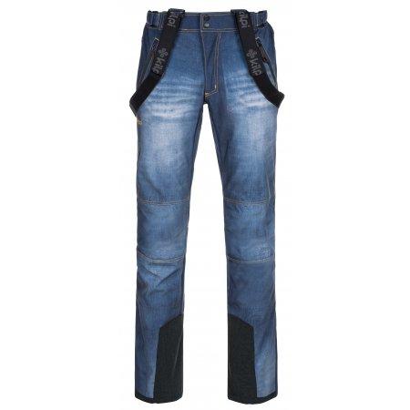 Pánské zimní softshellové kalhoty KILPI JEANSO-M LM0041KI MODRÁ