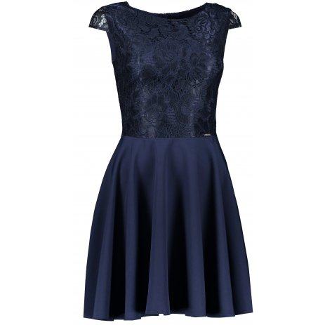 Dámské šaty NUMOCO A157-1 TMAVĚ MODRÁ