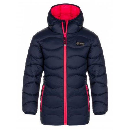 Dívčí kabát KILPI DAMIA-JG LJ0059KI TMAVĚ MODRÁ