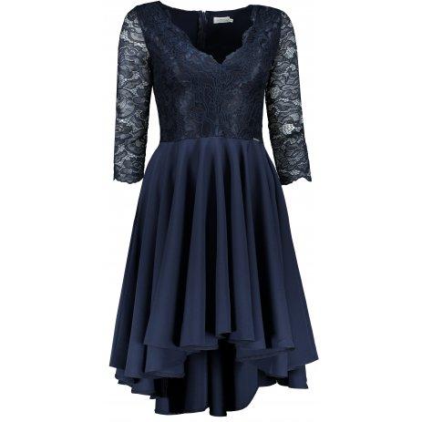 Dámské šaty NUMOCO NICOLLE A210-2 TMAVĚ MODRÁ