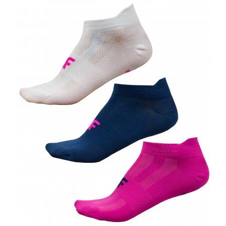 Dámské ponožky 4F NOSD4-SOD213 WHITE/PINK/NAVY