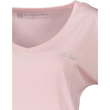 Dámské triko s krátkým rukávem ALTISPORT CYRA LTSR637 RŮŽOVÁ