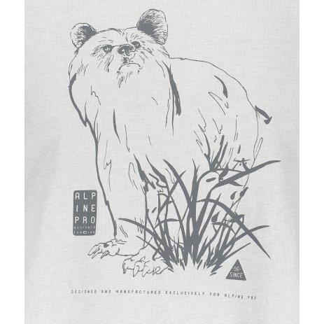 Pánské triko ALPINE PRO TIBERIO 8 MTSR474 SVĚTLE ŠEDÁ