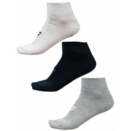 Pánské ponožky NOSD4-SOM302 GREY MELANGE/WHITE/DEEP BLACK
