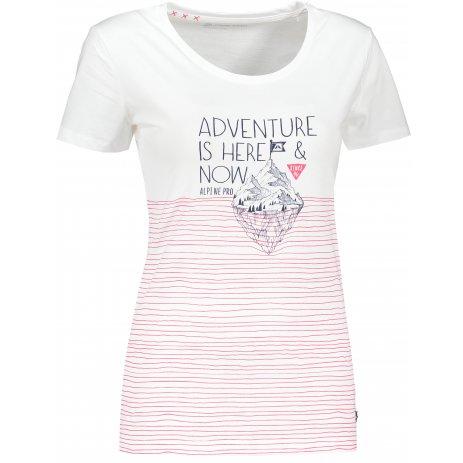 Dámské triko ALPINE PRO MARINA LTSR592 BÍLÁ