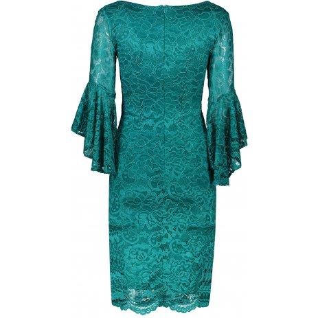 Dámské šaty NUMOCO A234-2 ZELENÁ KRAJKA