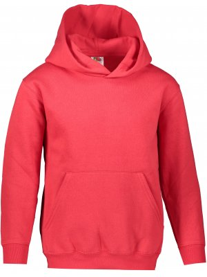 Dětská mikina FRUIT OF THE LOOM PREMIUM HOODED SWEAT RED