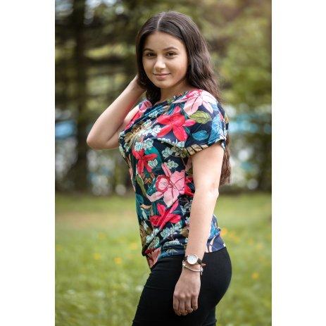 Dámské triko s krátkým rukávem KIXMI JACINTA TMAVĚ MODRÁ
