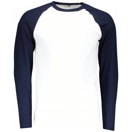 Pánské triko FRUIT OF THE LOOM BASEBALL T WHITE/DEEP NAVY