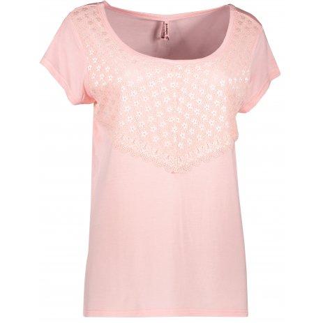 Dámské triko s krátkým rukávem KIXMI JASMINA SVĚTLE RŮŽOVÁ