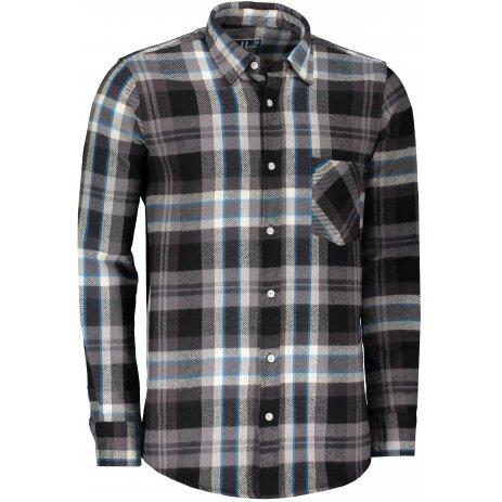 Pánská retro košile LONDOG BLACK/GREY/BLUE
