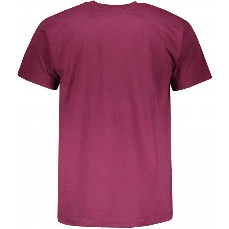 Pánské triko s krátkým rukávem FRUIT OF THE LOMM SUPER PREMIUM T BURGUNDY