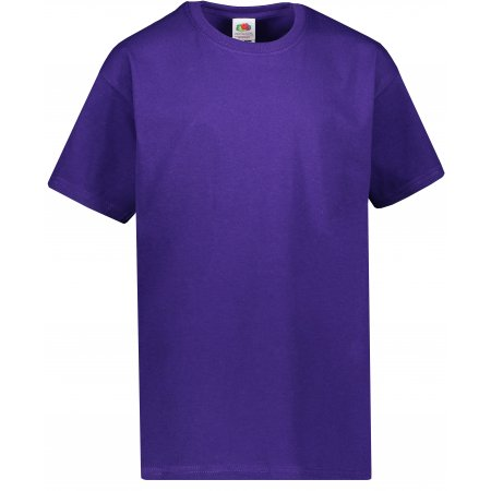 Dětské tričko FRUIT OF THE LOOM VALUEWEIGHT T PURPLE