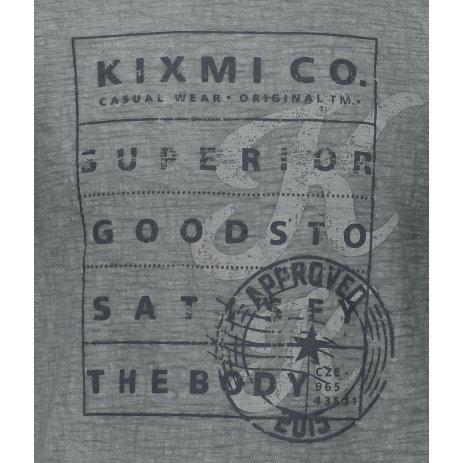 Pánské triko s krátkým rukávem KIXMI JEFFRY TMAVĚ ŠEDÁ