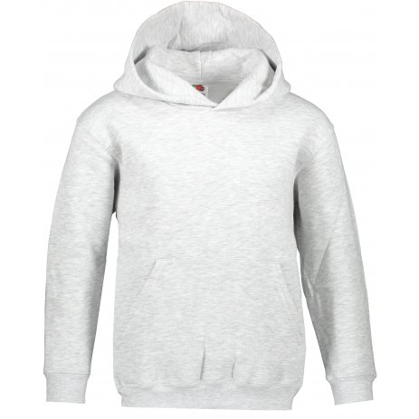 Dětská mikina FRUIT OF THE LOOM PREMIUM HOODED SWEAT HEATHER GREY