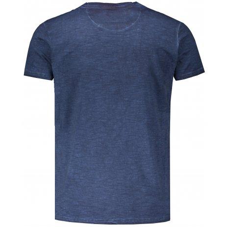 Pánské triko s krátkým rukávem KIXMI JEFFRY TMAVĚ MODRÁ