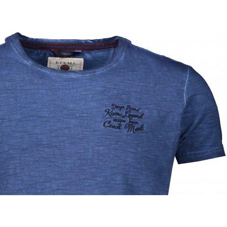 Pánské triko s krátkým rukávem KIXMI JOEL TMAVĚ MODRÁ