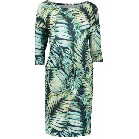 Dámské šaty NUMOCO A13-92 ZELENÁ VZOR