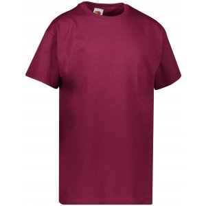 Dětské tričko FRUIT OF THE LOOM VALUEWEIGHT T BURGUNDY