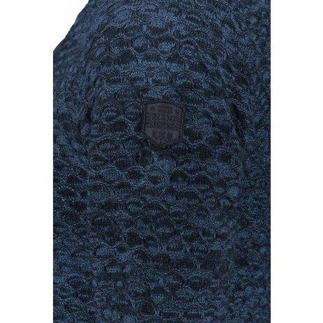 Pánský svetr KIXMI JACK TMAVĚ MODRÝ MELÍR