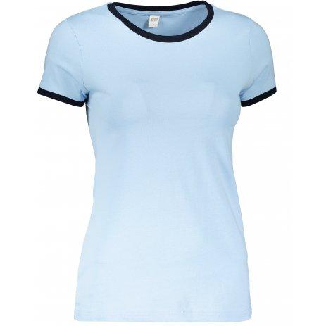 Dámské triko TEEJAYS RINGER TEE LIGHT BLUE/NAVY
