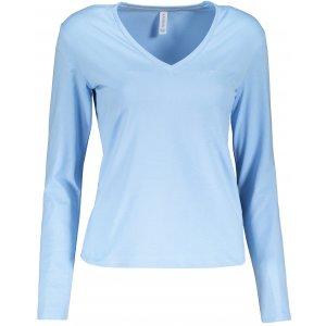 Dámské triko s dlouhým rukávem KARIBAN V-NECK SKY BLUE