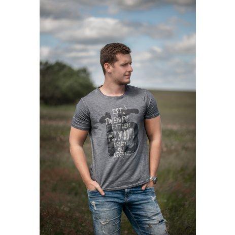 Pánské triko s krátkým rukávem KIXMI JANSON TMAVĚ ŠEDÁ