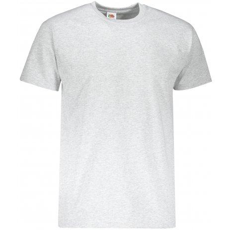 Pánské triko s krátkým rukávem FRUIT OF THE LOMM SUPER PREMIUM T HEATHER GREY