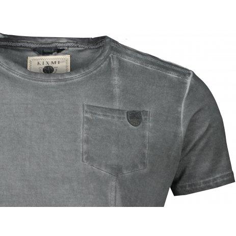 Pánské triko s krátkým rukávem KIXMI JACOB TMAVĚ ŠEDÁ