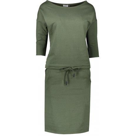 Dámské šaty NUMOCO A13-103 KHAKI