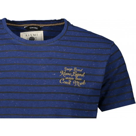 Pánské triko s krátkým rukávem KIXMI JERRY TMAVĚ MODRÝ MELÍR