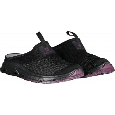 Dámské pantofle SALOMON RX SLIDE 4.0 W L40673300 BLACK/BLACK/POTENT PURPLE