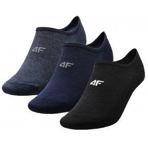 Ponožky 4F NOSD4-SOM300 NAVY MELANGE/NAVY/DEEP BLACK
