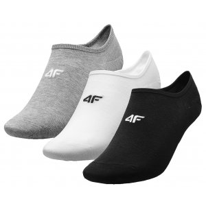 Ponožky 4F NOSD4-SOM300 GREY MELANGE/WHITE/DEEP BLACK