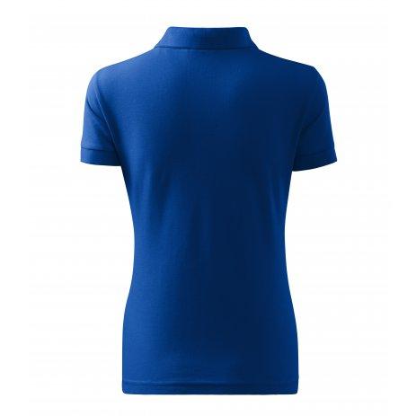 Dámské triko s límečkem MALFINI HEAVY 216 KRÁLOVSKÁ MODRÁ