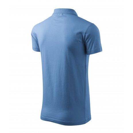 Pánské triko s límečkem MALFINI SINGLE J. 202 NEBESKY MODRÁ