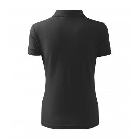 Dámské triko s límečkem MALFINI PIQUE POLO 210 ANTRACITOVÝ MELÍR