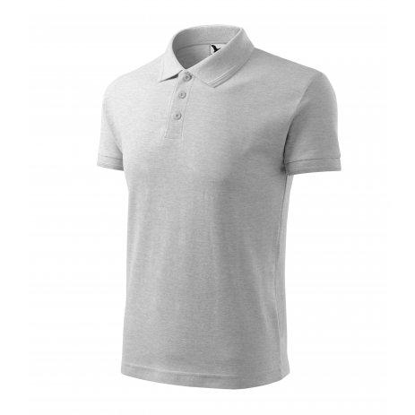 Pánské triko s límečkem MALFINI PIQUE POLO 203 SVĚTLE ŠEDÝ MELÍR