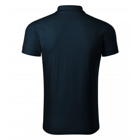 Pánské triko s límečkem PICCOLIO JOY P21 NÁMOŘNÍ MODRÁ