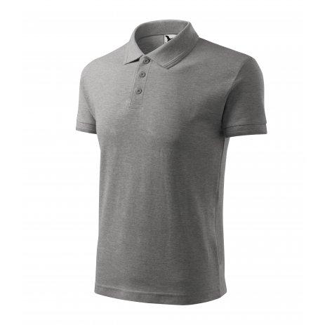 Pánské triko s límečkem MALFINI PIQUE POLO 203 TMAVĚ ŠEDÝ MELÍR