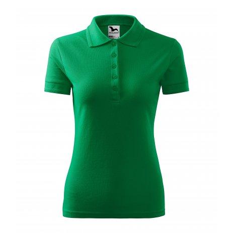 Dámské triko s límečkem MALFINI PIQUE POLO 210 STŘEDNĚ ZELENÁ