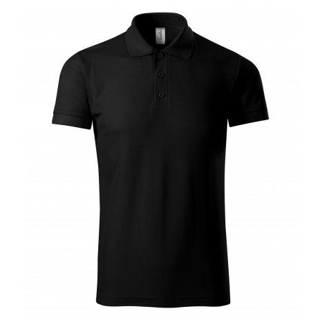 Pánské triko s límečkem PICCOLIO JOY P21 ČERNÁ
